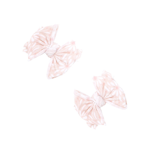 2-Pack Baby FAB Clips, White Daisy