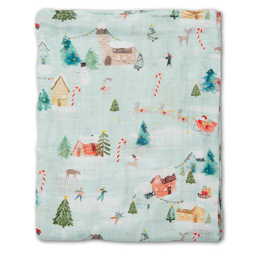Muslin Swaddle, Merry & Bright