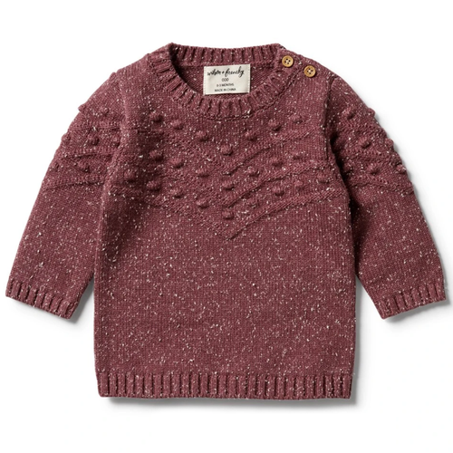 Knitted Bauble Sweater, Wild Ginger Fleck