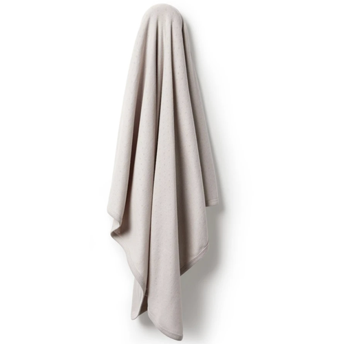 Organic Pointelle Swaddle, Clay