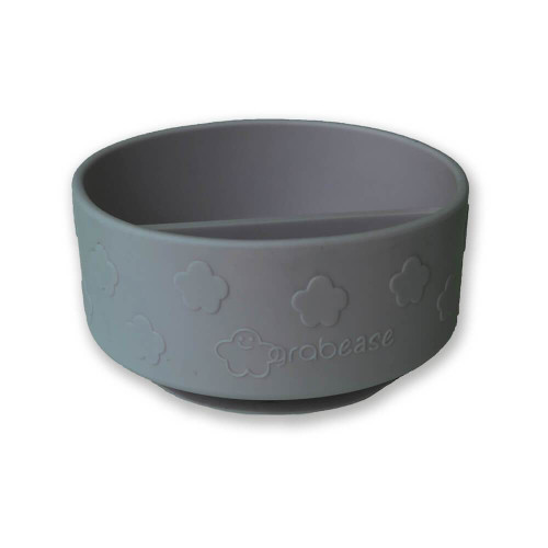 Silicone Divided Suction Bowl, Grey