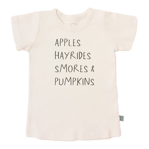 Graphic Tee, Apples Hayrides Smores