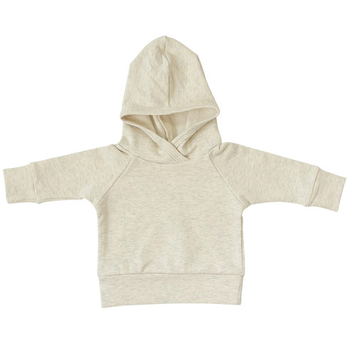 French Terry Hoodie, Heather Oatmeal