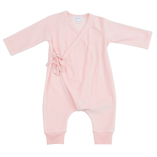Wrap Velour Coverall, Pink