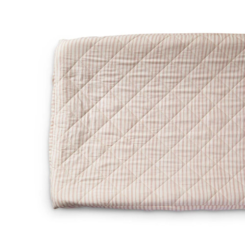 Quilted Changing Pad Cover, Petal Stripes