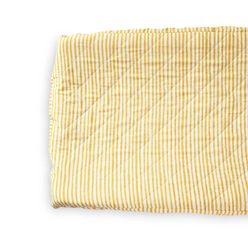 Quilted Changing Pad Cover, Marigold Stripes