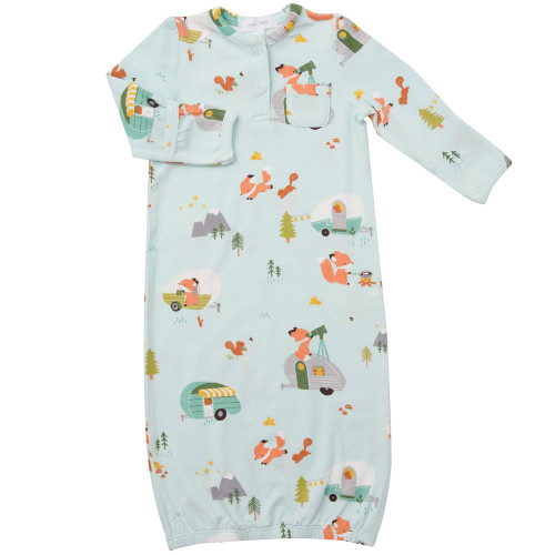 Easy Change Henley Gown, Camping Fox