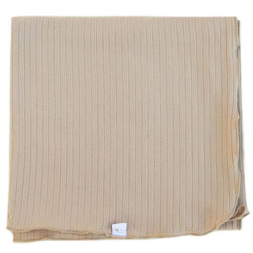 Stretch Ribbed Swaddle / Taupe