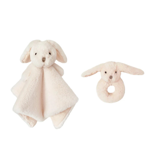 Pink Luxe Bunny Lovie and Rattle Set