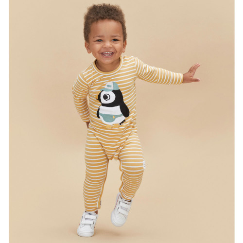 Long Sleeve Romper, Puffin
