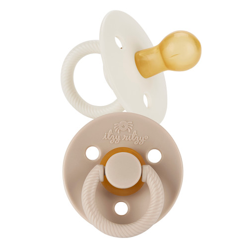 Natural Rubber Pacifier 2-Pack, Coconut/Toast