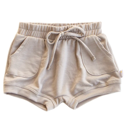 French Terry Sweat Short, Tan