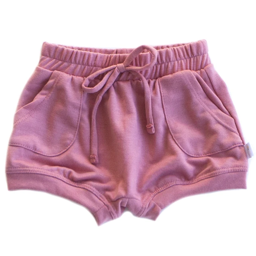 French Terry Sweat Short, Rose