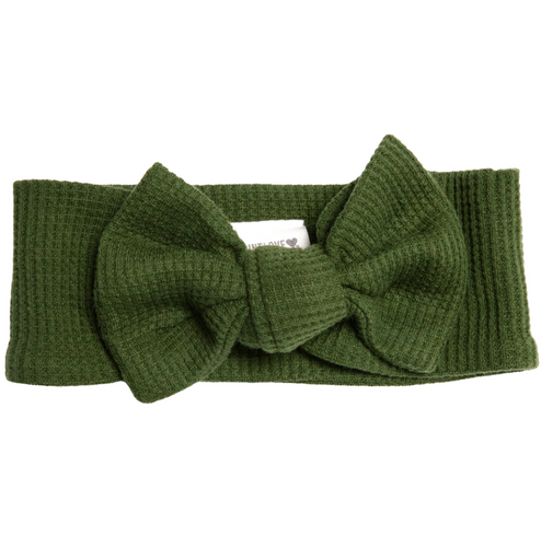 Organic Waffle Knot Bow, Forest