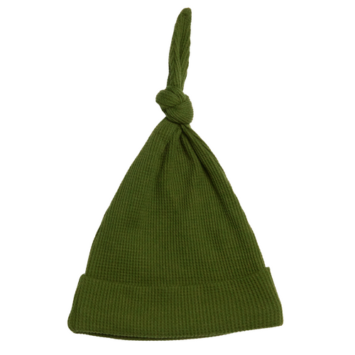 Organic Waffle Knot Beanie, Forest