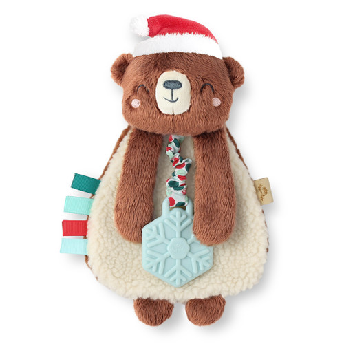 Itzy Lovey™ Plush Teether Toy, Holiday Bear