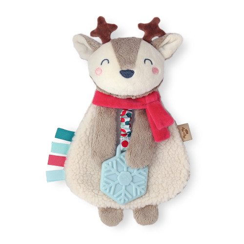 Itzy Lovey™ Plush Teether Toy, Holiday Reindeer