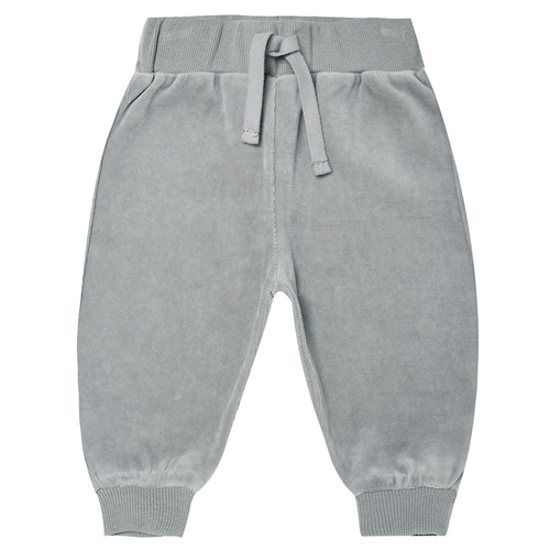 Velour Relaxed Sweatpants, Dusty Blue