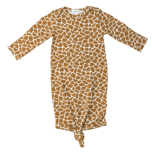 Knotted Gown, Giraffe Print