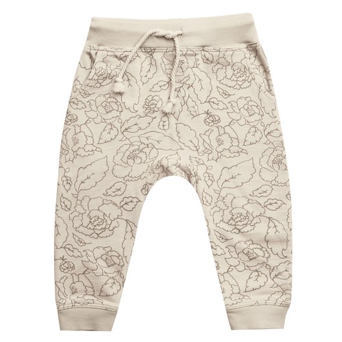 Rylee & Cru French Terry Sweatpant, Wild Rose