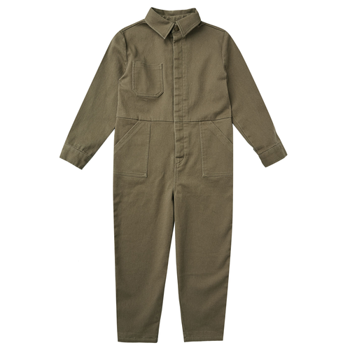 Rylee & Cru Coverall Jumpsuit, Olive