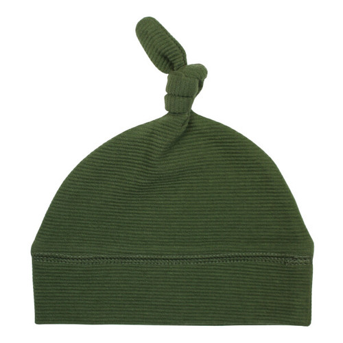 Organic Cotton Knot Beanie, Forest