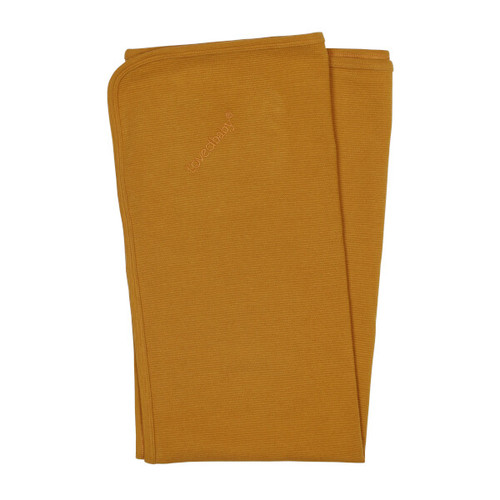 Organic Ribbed Blanket, Butterscotch