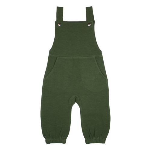 Organic Overall Romper, Forest