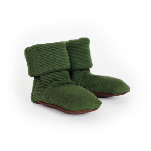 Organic Cotton Booties, Forest