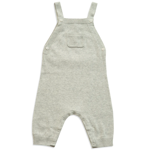 Knit Overall, Light Grey