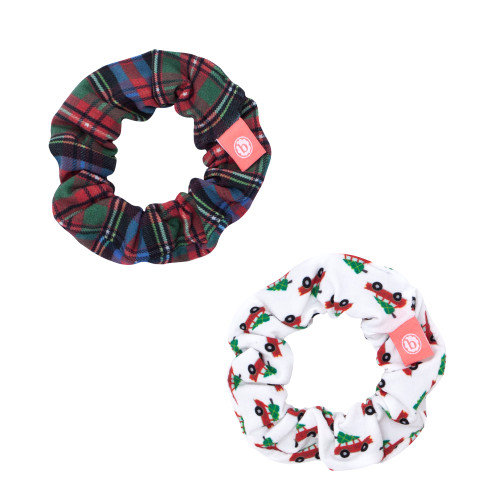 2-Pack Hair Scrunchie Set, Holiday Vibes