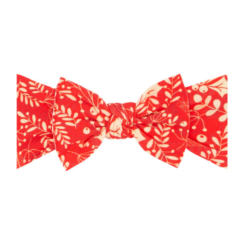 Printed Knot Bow, Red Bough