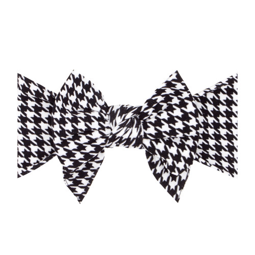 Printed DEB Bow, Houndstooth