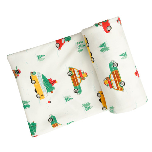 Stretch Swaddle, Christmas Cars