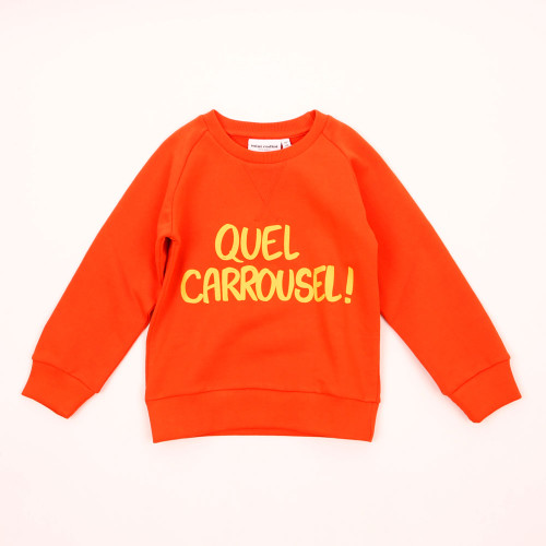 Mini Rodini Quel Carrousel! Sweatshirt, Red