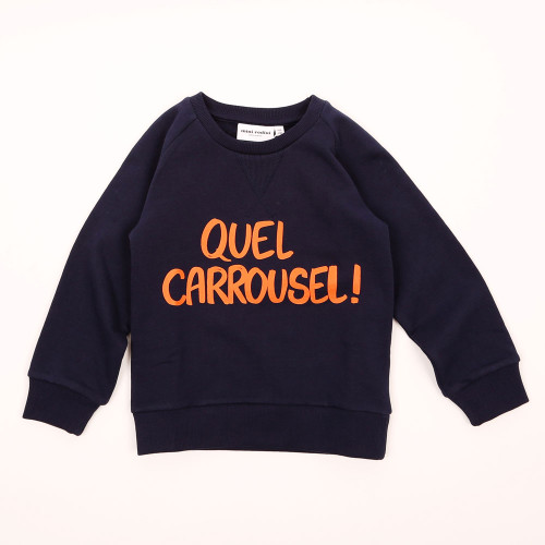 Mini Rodini Quel Carrousel! Sweatshirt, Blue