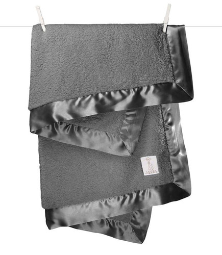 Chenille Blanket,  Charcoal