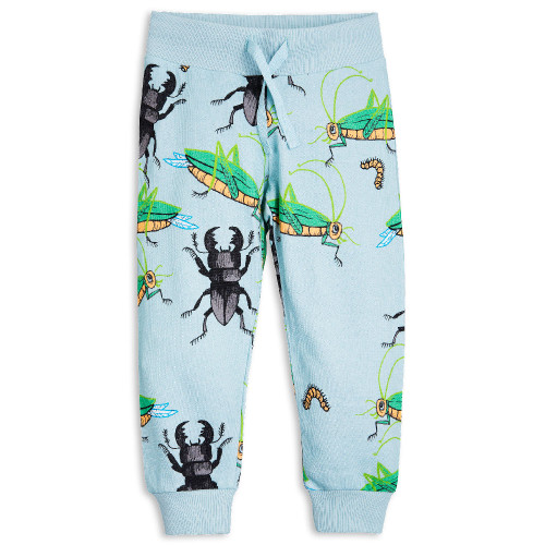 Mini Rodini Insect Sweatpants, Blue