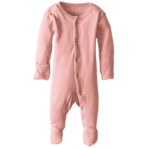 Organic Snap Footed Romper, Coral
