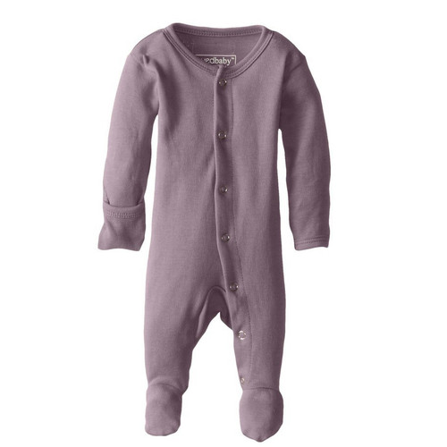 Organic Snap Footed Romper, Lavender