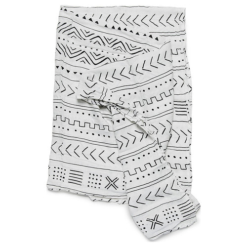 Luxe Muslin Swaddle, Mudcloth