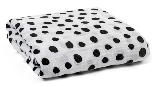 Organic Cotton Muslin Swaddle, Spots