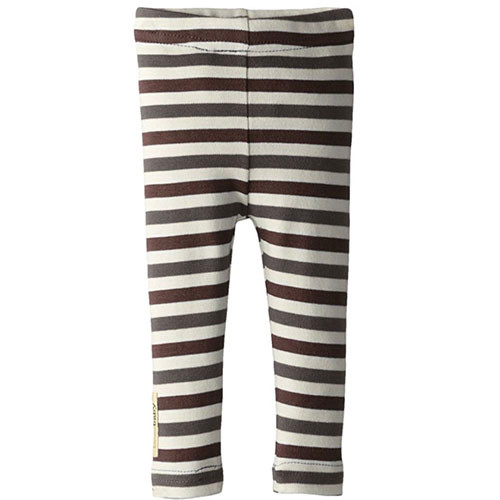 Organic Leggings, Gray/Bark Stripe