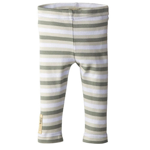 Organic Leggings, Seafoam Stripe