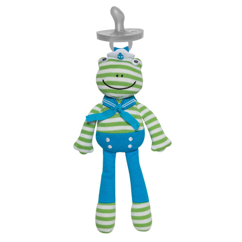 Organic Skippy Frog Pacifier Buddy