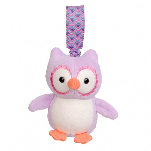 Organic Purple Owl Stroller Toy