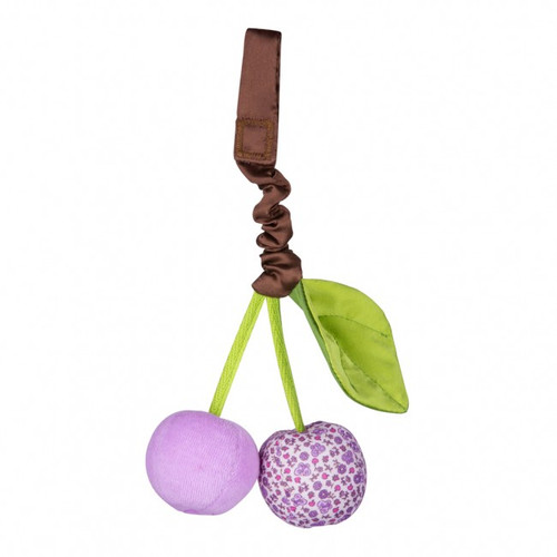 Organic Cherry Stroller Toy, Purple