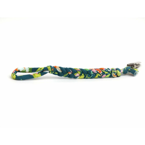 Softy Pacifier Clip, Emerald Garden