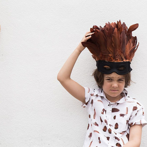 Feather Drum Feather Collector Woven Shirt