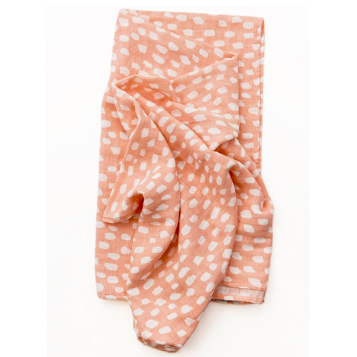 Spotted Blush Muslin Swaddle